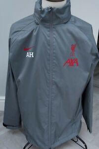 Liverpool FC Nike  Men's Training Rain  Jacket Coat / XL  UK GREY /CLUB WORN
