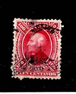 Mexico Stamps-Scott # 111/A14-100c-Canc/H-1870-NG