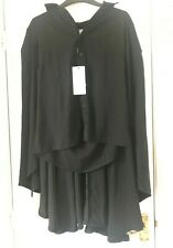 BNWT LAVISH ALICE Oversized Black Cape Shirt Top - Size 8