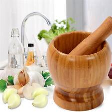 Hölzerner Knoblauch Ginger Mixing Grinding Bowl-Stampfen-Mörser-Werkzeuge