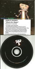 SHIRLEY BASSEY Where Do I begin RARE EDIT CARDED SLEEVE 2003 UK PROMO CD Single