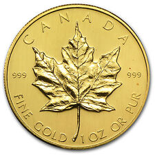 1980 1 oz Gold Canadian Maple Leaf Coin - Brilliant Uncirculated - SKU #74650