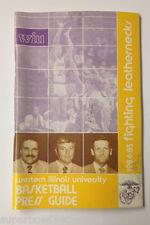 1984-85 Western Illinois University Baseketball Media Guide