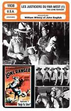 FICHE CINEMA : LES JUSTICIERS DU FAR WEST (A) - King,Horse 1938 The Lone Ranger