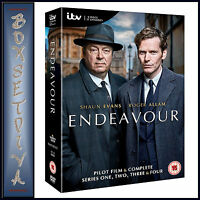 ENDEAVOUR - COMPLETE SERIES 1 2 3 & 4 * BRAND NEW DVD BOXSET***