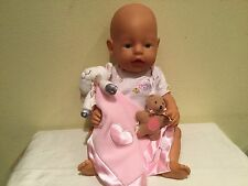Vintage 2003 Authentic Zapf Creations Fair Skin Baby Born Doll, Bear, More Euc