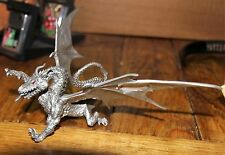 almost vintage pewter Dragon large wingspan beautiful piece of metal art