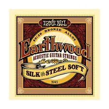 5 Pack! Ernie Ball 2045 Earthwood Silk & Steel Soft Acoustic Guitar Strings
