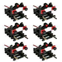 6 Pack Wired Buffer Stops With Light (for DCC and analog layouts, HO/OO)