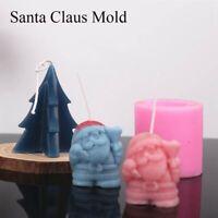 Weihnachtsmann Kerzenform Silikon DIY Weihnachten Seifenform Kuchen Dekorieren