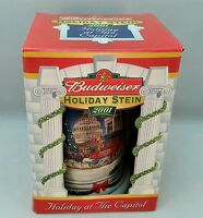 2001 Budweiser Beer Stein Holiday at The Capitol New Mug  Anheuser Busch
