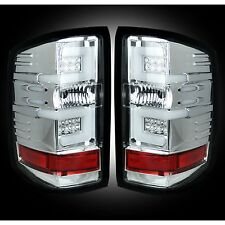 RECON 264297CL Chevy Silverado 16-17 1500 2500 3500 Clear Tail Lights LED