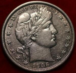 1906-O New Orleans Mint Silver Barber Half Dollar
