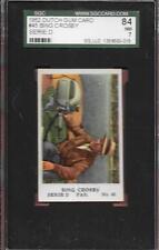 1952 DUTCH GUM CARD #45 BING CROSBY HOF PAR SERIE D SGC 7 NM HIGHEST GRADED *ABC