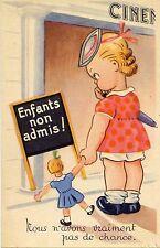 POSTCARD / CARTE POSTALE / FANTAISIE / CINEMA / ENFANTS NON ADMIS !