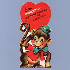 Vintage Valentine Card Valentine'S Day Stop Monkey-ing Around 1950s