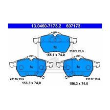 Ate 13.0460-7173.2 de guarnición frase, freno de disco a la izquierda para saab 9-5 9-3