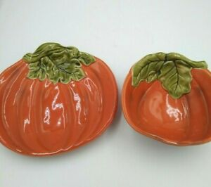2-pc Pumpkin Platter & Bowl Fall Halloween Orange Better Homes & Garden