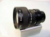 RCA 8mm f1.6 C-mount TV lens | Nice | Tested | $59 |