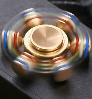 Brass Fidget 6 Point Hand Spinner Finger Gyro Toy EDC Focus Stress Reliever DIY