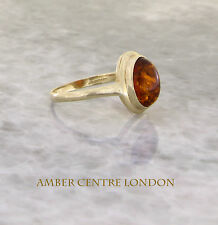 Italian Made Classic Elegant Baltic Amber Ring in 9ct Gold- GR0064  RRP£195!!!