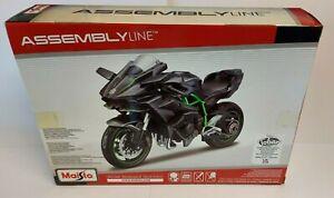 Maisto Kawasaki Ninja H2R Assembly Line Kit 1:12 Scale Model Diecast /Plastic