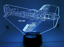 FW 190 RC Warbird Airplane 3D Acrylic Light with Extras