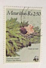MAURITIUS Sc #615 Θ used , WWF, bird, pigeon, postage stamp, Fine +