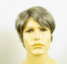 Perruque homme 100% cheveux naturel gris poivre et sel ref GUY 44