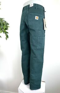 Carhartt Wip Double Knee Hose Leinen Hose w32 l32 Washed Teal