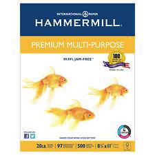 Hammermill Premium Multipurpose Paper 20-lb. 8-1/2 x 11 White 2500/Carton 105910