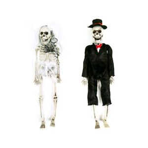 Halloween Skeleton Bride & Groom - Hanging Skeleton Decoration