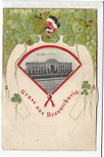 MECHANISCHE DREHKARTE , GRUSS AUS BRAUNSCHWEIG , 1904