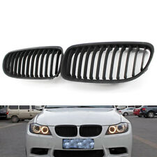 2x Black Front Kidney Grill Grilles For BMW E90 E91 LCI 325i 328i 335i 2009-2011
