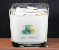 IScape Scented *Lemon Verbena* 11 Oz. Square Jar Wood Wick Soy Candle