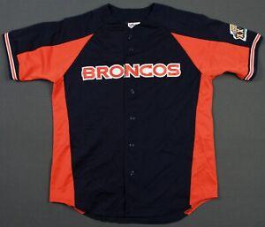 Denver Broncos Vintage 1999 Super Bowl XXXIII Majestic Baseball Jersey Large 90s