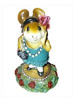 Wee Forest Folk ZELDA Green flapper Dress Rose Base Miniature Mouse