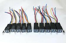 10) 12V 30/40 Amp Waterproofed SPDT Relay + 10) 5 Wire H.D. Interlocking Sockets