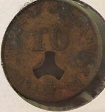 1901-1925 Osborne Gin Co.Lee Rogers Mercantile Co. Store $.10 Token Walker Co AL