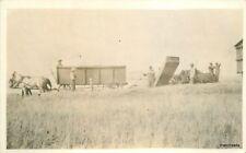 C-1910 Farming Agriculture Harvesting Equipment RPPC real photo 10942