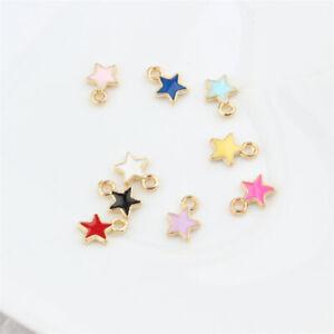 20 X Enamel Tiny Pentagram Star Charms Pendant 6x9mm