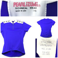 Pearl Izumi Womens Sz 10 (36 in Bust) Blue/Purple 1/4 Zip Bicycle Cycling Jersey