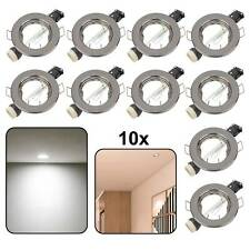 10 x Black Chrome GU10 Recessed Ceiling Spot Light Downlights Downlight Lights