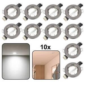 10 x Black GU10 Recessed Ceiling Spot Light Downlights Downlight Lights uk