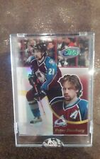 2003 eTOPPS HOCKEY PETER FORSBERG COLORADO AVALANCHE CARD IN HAND