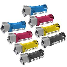 8pk BLK CLR Toner Cartridge set for Xerox Phaser 6130 106R01281 106R01278