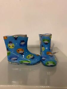 New Baby Toddler Boy Girl Blue Wellies Little People Size 3 3.5 4 4.5