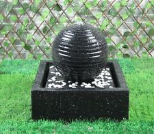 Gardenwize Outdoor Solar Powered Black Ball Water Feature Fountain with Lights