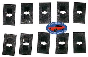 "Ford Lincoln Mercury 1/16"" Stud Emblem Badge Trim Molding Push Speed Nut 10pcs A"