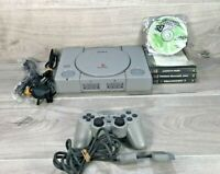 Sony Original PlayStation 1 Console Bundle 1 Controller, 4 Games - PS1